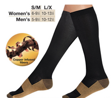 Load image into Gallery viewer, 1~10Pairs Copper Infused Compression Socks 20-30mmHg Graduated Mens Womens Lot