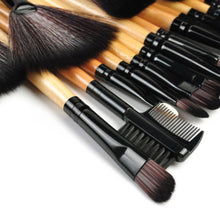 Load image into Gallery viewer, Professional 32Pcs Soft Cosmetic Eyebrow Shadow Makeup Brush Set + Pouch Bag