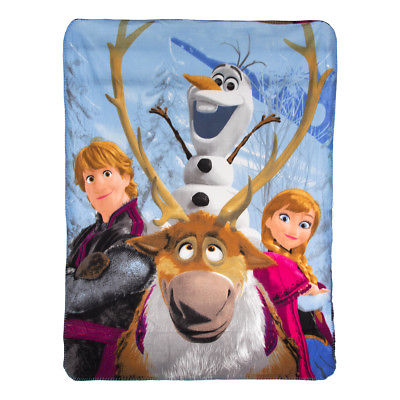 "Disney Frozen 45x60"" Soft Fleece Throw"