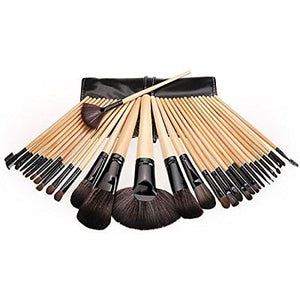 Professional 32Pcs Soft Cosmetic Eyebrow Shadow Makeup Brush Set + Pouch Bag
