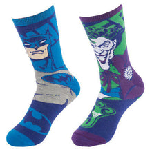 Load image into Gallery viewer, Reversible Kids Batman & Joker Crew Socks D.C. Comics One Size Youth