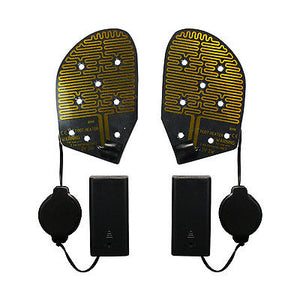 2 Battery Electric Feet Heated Shoe Boot Insoles