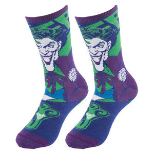 Reversible Kids Batman & Joker Crew Socks D.C. Comics One Size Youth