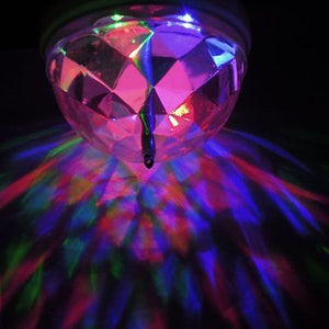 Crystal Ball Rotating LED Stage Light Bulb for Club DJ Disco Party