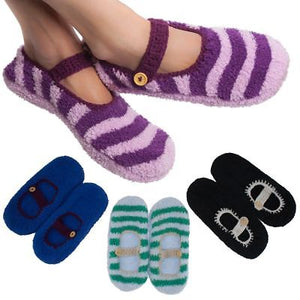 4 Pairs Women's Mary Jane Slipper Socks