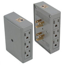 Load image into Gallery viewer, 2 Side Entry 6-Way Electrical Socket Outlet