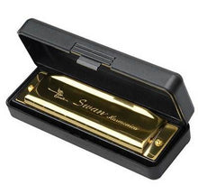 Load image into Gallery viewer, Golden Harmonica With Case