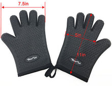 Load image into Gallery viewer, TWO Barbecue Heat Resistant Silicone Gloves