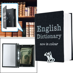 Mini Dictionary Diversion Book Safe w/ Key Lock - Metal 4.5 X 3 INCH