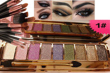 Load image into Gallery viewer, Glitter Eye Shadow Palette 9 Colors