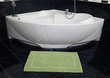 Load image into Gallery viewer, 2 Washable Contour Cotton Bath Mats 21x34