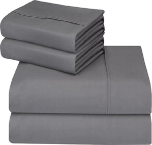 Bed Sheets & Pillow Cases Microfiber Complete Set 4pc