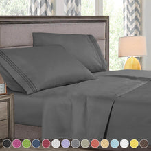 Load image into Gallery viewer, Super Deluxe 1800 Count Hotel Quality 4 Piece Deep Pocket Bed Sheet Set