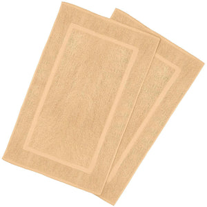 2 Pack Bath Mat Cotton Washable  21x34