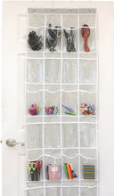 Load image into Gallery viewer, 24 Pocket Over the Door Shoe Organizer Rack Hanging Storage Space Saver Hanger