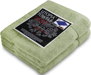 2 Washable Contour Cotton Bath Mats 21x34