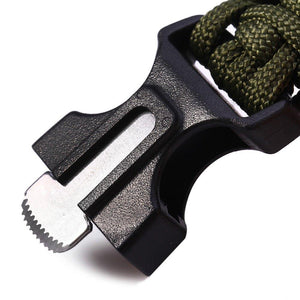 Tactical Survival Bracelet 2 Pack – 550 Paracord, Emergency Knife/Scraper & More