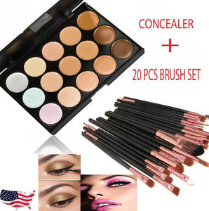 15 Colors Makeup Palette + 20 Brushes