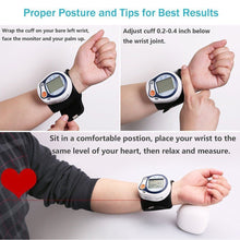 Load image into Gallery viewer, Automatic Digital Wrist Cuff Blood Pressure Monitor