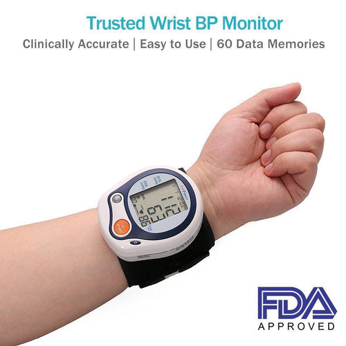 Automatic Digital Wrist Cuff Blood Pressure Monitor