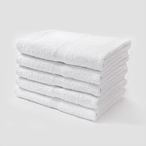 6 WHITE HOTEL BATH TOWELS 22x44 NEW SOFT TOUCH COTTON