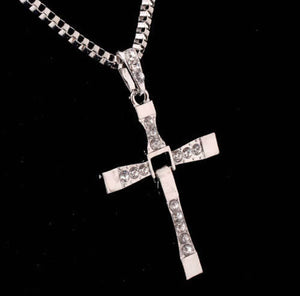 Stainless Steel Unisex Crucifix with Chain