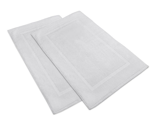 2 NEW WHITE COTTON HOTEL AND HOME BATH MATS SIZE 20X30 HOME BASICS
