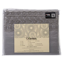 Load image into Gallery viewer, 1600 Count 4 Piece Bed Sheet Set Deep Pocket 6 Color 5 Size Chemical Lace New