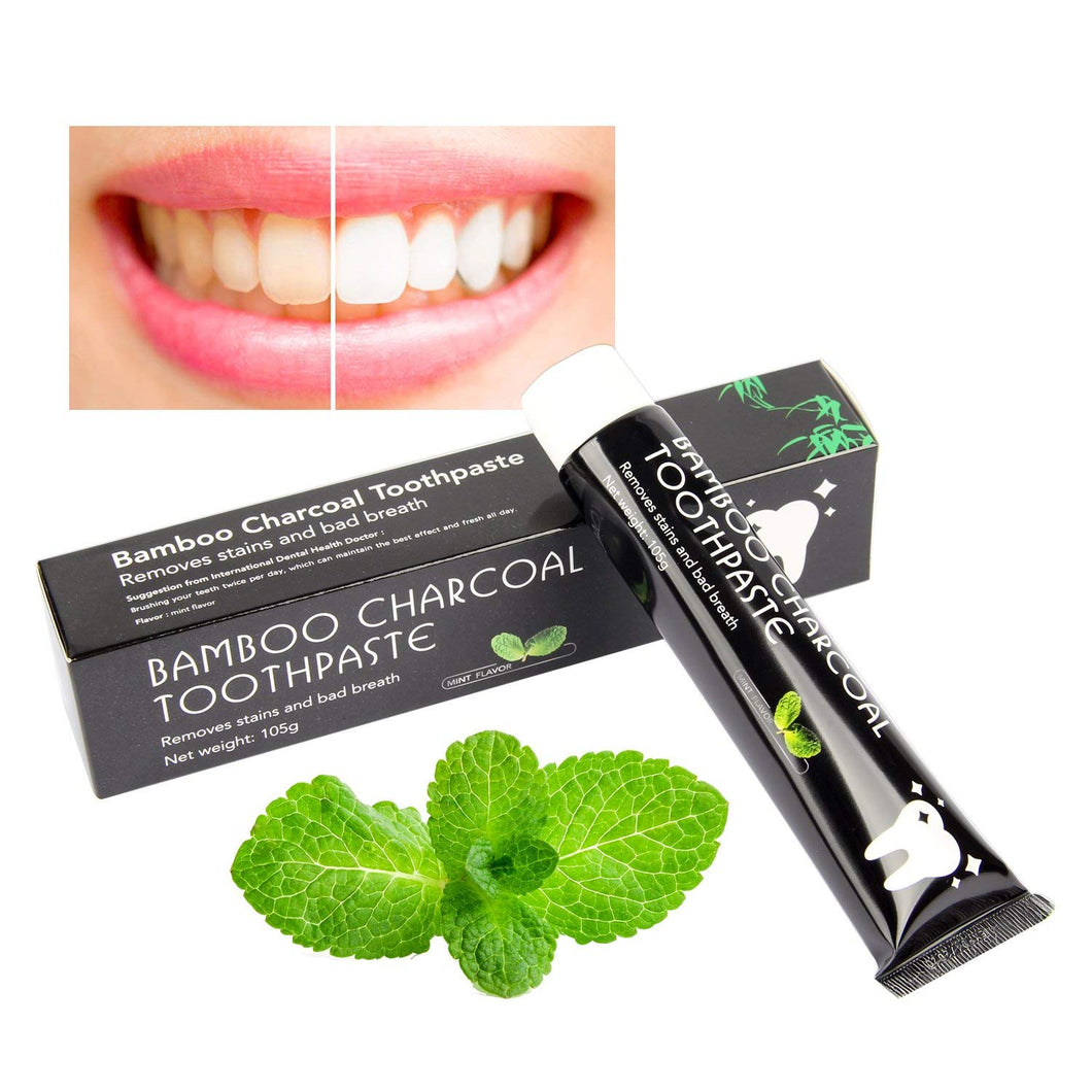 Bamboo Charcoal Toothpaste for Bad Breath and Teeth Whitening