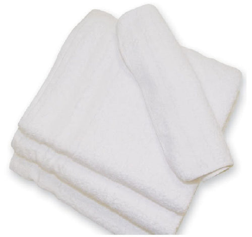5 DOZEN WHITE HOTEL WASH CLOTHS 100% COTTON 12X12