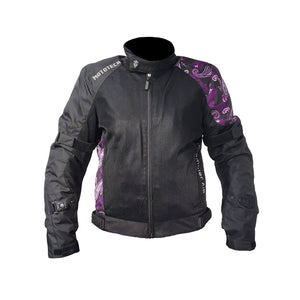 Scrambler Air Women's Motorcycle Jacket - Purple - Level 2