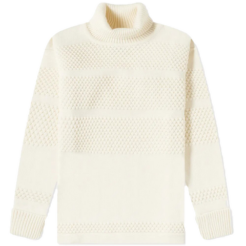 FISHERMAN SWEATER Off White