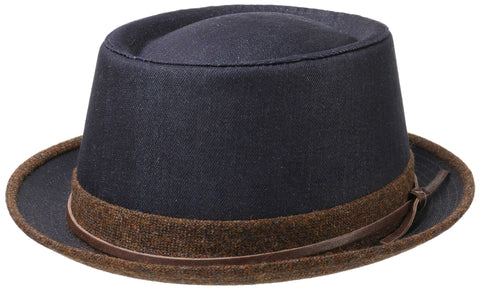 Stetson - Pork Pie Denim Blue/Brown