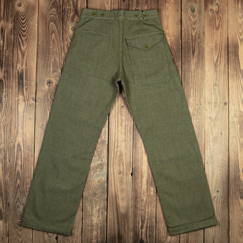 1952 Pattern Trousers olive selvage length 34 - P0101-19-0014 / 40134