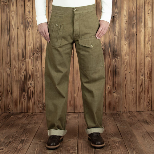 Pattern Trousers olive selvage