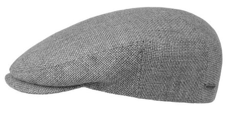 Driver Cap Virgin Wool/Linen grey