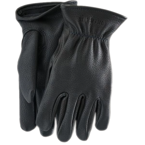 LINED BUCKSKIN LEATHER GLOVE BLACK