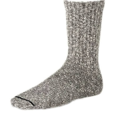 COTTON RAGG SOCK BLACK-WHITE