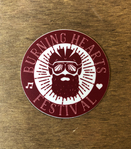 Burning Hearts Festival Sticker