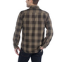 A HUBBARD SLIM FIT FLANNEL SHIRT BURNT OLIVE