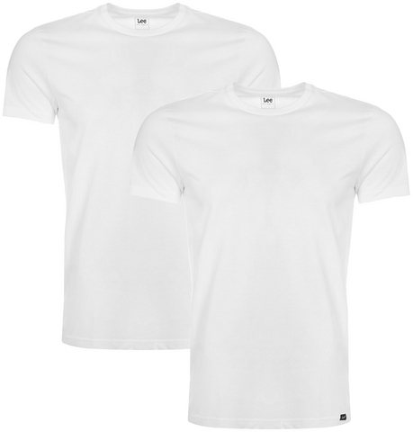 Twin Pack Crew White