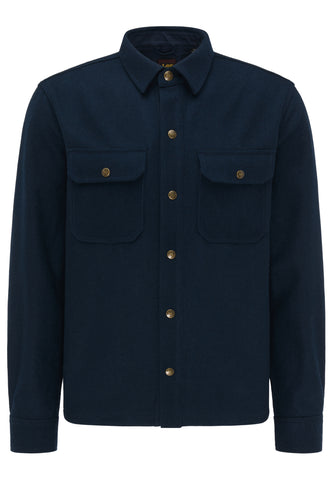 Lee 101 OVERSHIRT TOTAL ECLIPSE Wool Navy