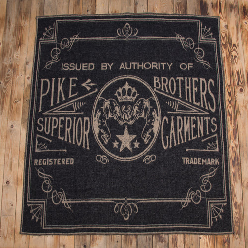 Logo blanket faded black