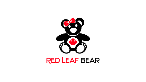 red leaf bear logo black