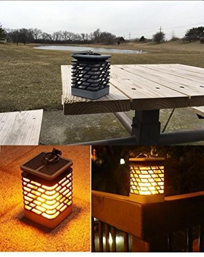 Red Leaf Bear - FREE Shipping WorldWide Solar Lights Outdoor Espier LED Flickering Flame Torch Lights Solar Powered Lantern Hanging Decorative Atmosphere Lamp for Pathway Garden Deck Christmas Holiday Party Waterproof Auto On/Off