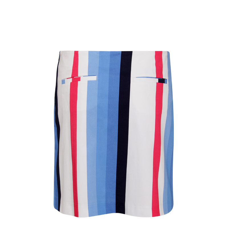 Girls Golf Horizontal Stripes Skort