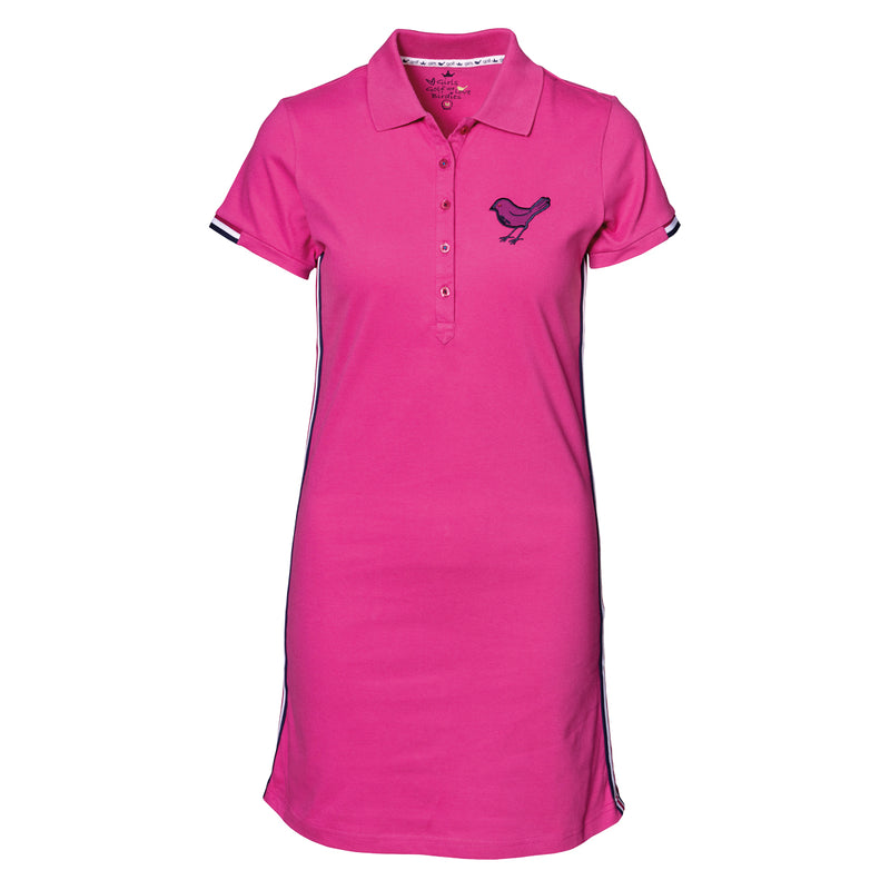 Girls Golf Pink Makes Me Happy Dress