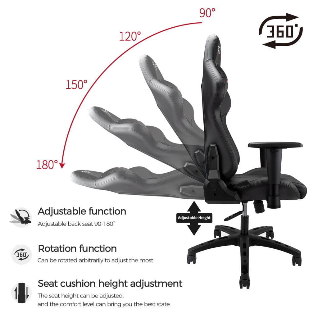 Gaming Chair Pu Leather Reclining