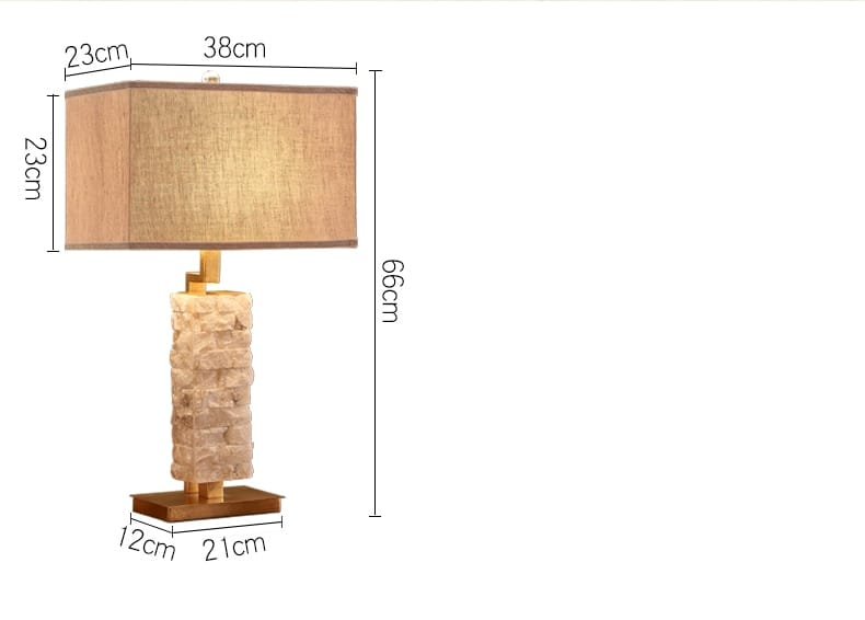 Stone Table Lamp