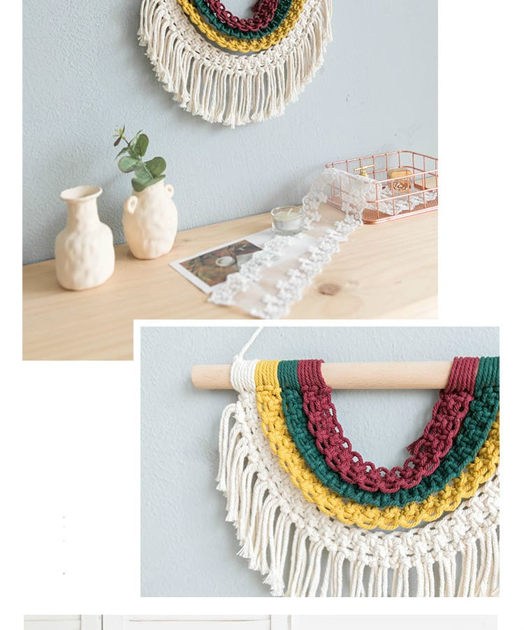 Colorful Macrame Tapestry Boho Wall Decor